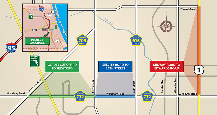 midway road projects map